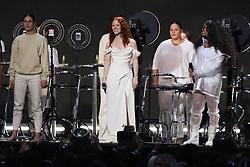 Jess Glynne performs live at the 2019 Brit Awards at the O2 Arena.<br /><br />20 February 2019.<br /><br />Please byline: Vantagenews.com