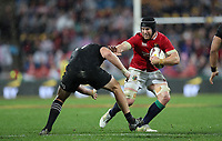 Rugby Union - 2017 British & Irish Lions Tour of New Zealand - Second Test: New Zealand vs. British & Irish Lions<br /> <br /> Sean O'Brien of The British and Irish Lions hold off Wyatt Crockett of The All Blacks at Westpac Stadium, Wellington.<br /> <br /> COLORSPORT/LYNNE CAMERON