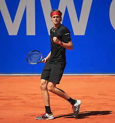MUNICH, May 7, 2018  Germany's Alexander Zverev reacts during the men's singles final match of BMW Open 2018 against his compatriot Philipp Kohlschreiber in Munich, Germany, on May 6, 2018. Alexander Zverev won 2-0 to claim the title. (Credit Image: © Philippe Ruiz/Xinhua via ZUMA Wire)