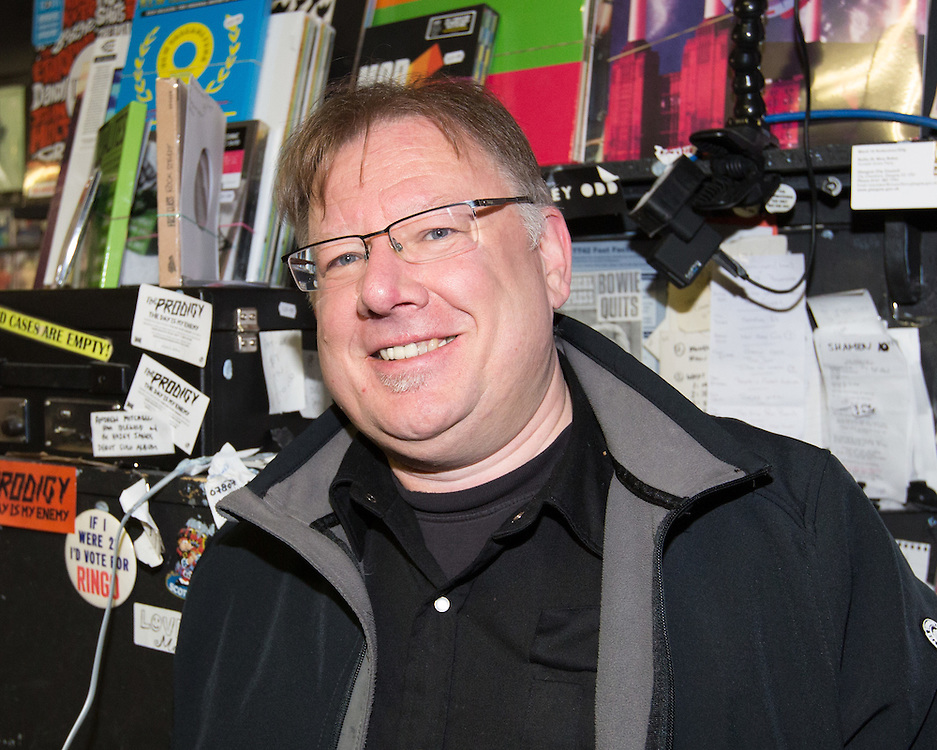 Music fans out in their numbers for Record Store Day. The Love Music shop on Dundas Street, Glasgow. Owner Sandy McLean. Picture Robert Perry for The Sunday Mail 16th April 2016<br /> <br /> Must credit photo to Robert Perry<br /> FEE PAYABLE FOR REPRO USE<br /> FEE PAYABLE FOR ALL INTERNET USE<br /> www.robertperry.co.uk<br /> <br /> NB -This image is not to be distributed without the prior consent of the copyright holder.<br /> in using this image you agree to abide by terms and conditions as stated in this caption.<br /> All monies payable to Robert Perry<br /> <br /> (PLEASE DO NOT REMOVE THIS CAPTION)<br /> This image is intended for Editorial use (e.g. news). Any commercial or promotional use requires additional clearance. <br /> Copyright 2016 All rights protected.<br /> first use only<br /> contact details<br /> Robert Perry     <br /> 07702 631 477<br /> robertperryphotos@gmail.com<br />        <br /> Robert Perry reserves the right to pursue unauthorised use of this image . If you violate my intellectual property you may be liable for  damages, loss of income, and profits you derive from the use of this image.