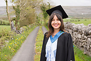 """18/04/2017 REPRO FREE:  <br />  Post BAC graduate Charlotte Lavelle from Ballina who Graduated from at the 13th conferring ceremony, held in the Minstrels gallery the 16th century Newtown Castle at the heart of the BCA campus, exemplifies the continued success of the Burren's  alternative model of art education . The Irish and  international graduates included Elizabeth Matthews, conferred with  a PhD for her research on Utopian studies , and six international graduates whose work on display in the BCA gallery addressed the ultimate question, """"who am I called to be"""" In her address President of the college Mary Hawkes Greene referred to the unique place based educational  model  committed to  individual student centred  education accredited by NUIGalway , and how it effectively  embraces the often conflicting forces of the global and the local, the public and the private as well as the collective and the individual. <br /> .  Photo:Andrew Downes, xposure"""