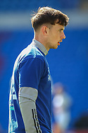 Cardiff City's Mark Harris (29) during the pre-match warm-up before the EFL Sky Bet Championship match between Cardiff City and Nottingham Forest at the Cardiff City Stadium, Cardiff, Wales on 2 April 2021.