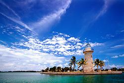 lighthouse (ornamental), .Boca Chita Key, .Biscayne National Park, Florida (Atlantic)