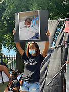 6/6/2020 Jackson MS. <br /> Pictured is student Maisie Brown 18yrs old from Jackson who organized a peaceful protest outside the Governors Mansion. She said there voices would be heard and her face would be seen- change is coming. The protest was in honor of George Floyd and in support of ending systematic racism and to end police brutality in Mississippi and America. The National Black Panthers Party from Tupelo Mississippi showed up outside the Governors mansion in the shadow of the State Capitol to protest police brutality. The National Black Panthers Party was their to show their support for change in Mississippi, to end systemic racism and police brutality. Protests have broken out around the world in solidarity to end white supremacy and police brutality. The Panthers showed up at the end of a peaceful protest organized by 18yr old student Maisie Brown. The brutal murder of African American George Floyd by the knee and hands of 4 former Minneapolis Minnesota police officers has sparked a cry for justice and reform around the world. Photo copyright © Suzi Altman<br /> Student Maisie Brown 18yrs old from Jackson organized a peaceful protest outside the Governors Mansion. She said there voices would be heard and her face would be seen- change is coming. The protest was in honor of George Floyd, another Black man killed by the knees and hands of 4 former Minneapolis Minnesota police officers. The protestors are demanding an end to police brutality  and systematic racism among other issues in Mississippi and America. Protests have broken out around the world in solidarity to end white supremacy and police brutality after the death of Georg Floyd.<br /> <br /> The National Black Panthers Party from Tupelo Mississippi showed up outside the Governors mansion in the shadow of the State Capitol to protest police brutality. The National Black Panthers Party was their to show their support for change in Mississippi, to end systemic racism and police brutality.  The Panthers showed up at the e