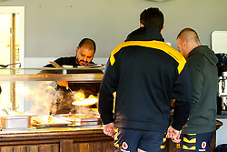 Wasps Performance Chef Gaurav Abbi serves lunch during training ahead of the European Challenge Cup fixture against SU Agen - Mandatory by-line: Robbie Stephenson/JMP - 18/11/2019 - RUGBY - Broadstreet Rugby Football Club - Coventry , Warwickshire - Wasps Training Session