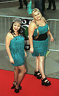 Skoda Fringe Gala at Our Dynamic Earth, Edinburgh: Supergirly (Jai Simeone, left, and Louise McClatchy) arrive at the showcase event for acts appearing at the Edinburgh Festival Fringe......