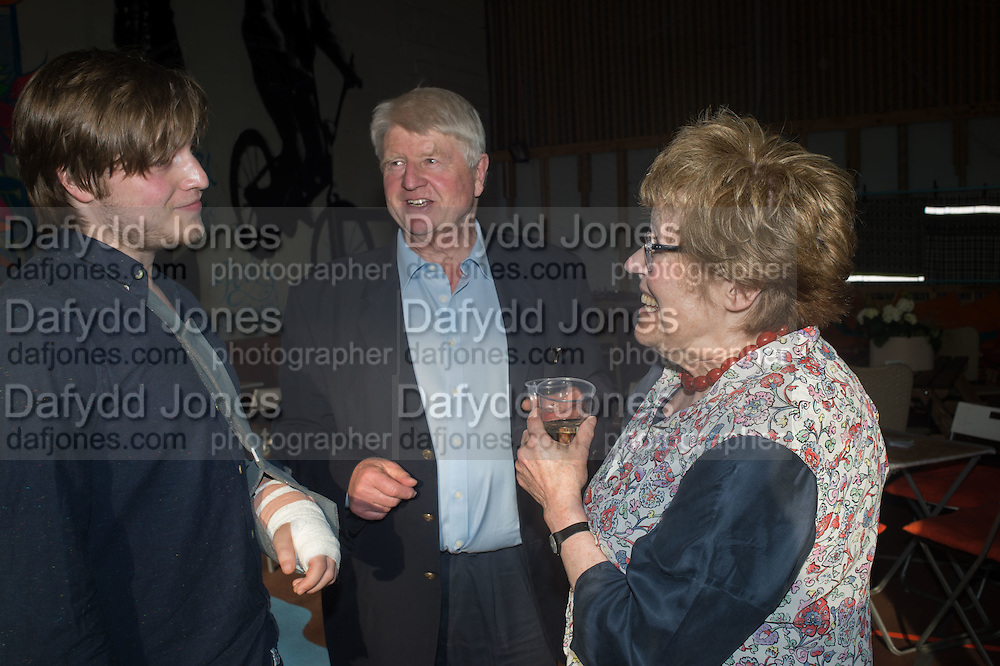 LUDO DAWNAY; STANLEY JOHNSON; CHARLOTTE JOHNSON WAHL, Rachel Johnson book launch of Fresh Hell, Acklam Village Market, Acklam Rd. London W10.