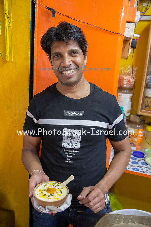 Selling Lassi a traditional dahi (yogurt) based drink that originated in India. Lassi is a blend of yogurt, water, spices and sometimes fruit.