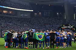 May 6, 2018 - Porto, Porto, Portugal - Porto's team celebrates the title of national champion during the Premier League 2017/18 match between FC Porto and CD Feirense, at Dragao Stadium in Porto on May 6, 2018. (Credit Image: © Dpi/NurPhoto via ZUMA Press)
