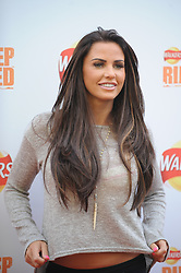 © Licensed to London News Pictures. 29/08/2012. London,UK. Katie Price (AKA Jordan)  attending the launch Walkers news Deep Ridged crisps. To celebrate the launch Walkers unveiled 'Britain's Biggest Ever Crisp' standing at 22m tall .Photo credit : Thomas Campean/LNP. .
