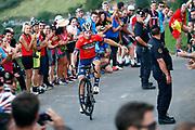 Ivan Garcia Cortina (ESP, Bahrain - Merida) during the 73th Edition of the 2018 Tour of Spain, Vuelta Espana 2018, Stage 14 cycling race, Cistierna - Les Praeres Nava 171 km on September 8, 2018 in Spain - Photo Luca Bettini/ BettiniPhoto / ProSportsImages / DPPI