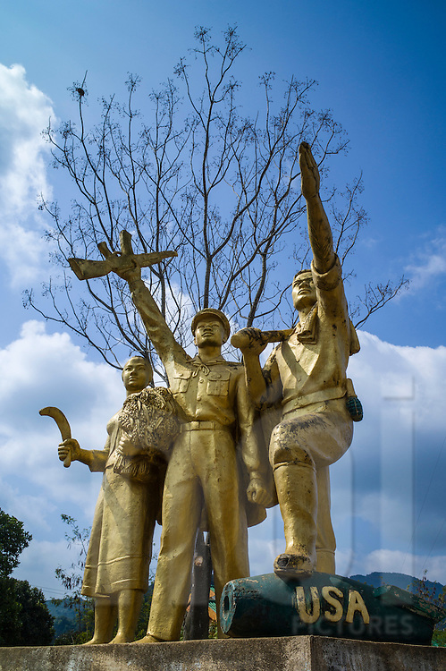 Viengxay victory statue in Vieng Xay District, Houaphanh Province, Laos, Southeast Asia