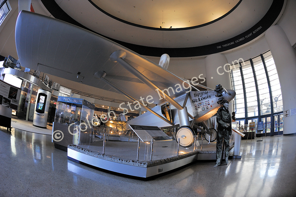 """Replica of the Spirit of St Louis <br /> <br /> """"In 1986 the Museum became the first aero-themed museum to be accredited by the American Association of Museums, and it is now a Smithsonian affiliate. <br /> <br /> The California Legislature voted to declare the Museum """"California's official Air and Space Museum and Education Center. <br /> <br /> Because of San Diego's contributions to aviation and aerospace history and technology, it is only fitting that the Museum is now recognized as one of the country's premier aerospace museums.""""<br /> <br /> In 2006, 2006 the Museum's name became San Diego Air & Space Museum.<br /> <br /> info taken from the official website."""