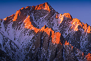 Lone Pine Peak in the Sierra Nevada range in California