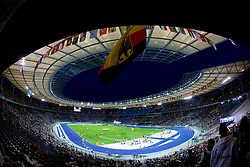 Panoramic view of the Olympic stadium at the 2009 IAAF Athletics World Championships on August 15, 2009 in Berlin, Germany. (Photo by Vid Ponikvar / Sportida)