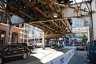 CTA Railways in Chicago, Illinois.