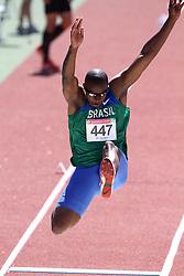 Jefferson Sabino participa da prova do salto em distancia válida pelos jogos Pan-Americanos de Guadalajara 2011. FOTO: Jefferson Bernardes/Preview.com