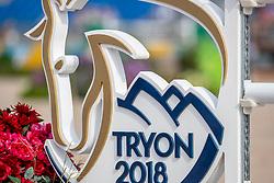 Tryon Logo<br /> Tryon - FEI World Equestrian Games™ 2018<br /> FEI World Individual Jumping Championship<br /> Third cometition - Round A<br /> 3. Qualifikation Einzelentscheidung 1. Runde<br /> 23. September 2018<br /> © www.sportfotos-lafrentz.de/Stefan Lafrentz