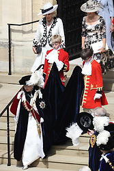 Queen Elizabeth II during the annual Order of the Garter Service at St George's Chapel, Windsor Castle.