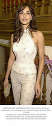 MISS TASHA DE VASCONCELOS a friend of Prince Albert of Monaco, at a reception in London on 22nd October 2001.	OTG 48