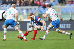March 16, 2019 - Rome, RM, Italy - Felix Lambey of France during the Six Nations International Rugby Union match between Italy and France at Stadio Olimpico on March 16, 2019 in Rome, Italy. (Credit Image: © Danilo Di Giovanni/NurPhoto via ZUMA Press)