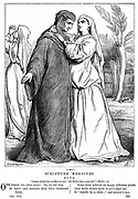 Ruth embracing her mother-in-law.' Bible' 2 Ruth 1.14. Wood engraving 1873.