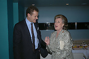 Viscount Rothermere and Lady Pamela Hicks. Launch dinner for Island Beauty by India Hicks hosted by Charles Finch and Harvey Nichols Fifth Floor Restaurant. London. .  14  November 2005 . ONE TIME USE ONLY - DO NOT ARCHIVE © Copyright Photograph by Dafydd Jones 66 Stockwell Park Rd. London SW9 0DA Tel 020 7733 0108 www.dafjones.com