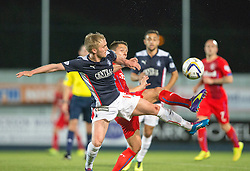 Falkirk's Craig Sibbald and Rangers Black. Falkirk 1 v 3 Rangers, Scottish League Cup game played 23/9/2014 at The Falkirk Stadium.