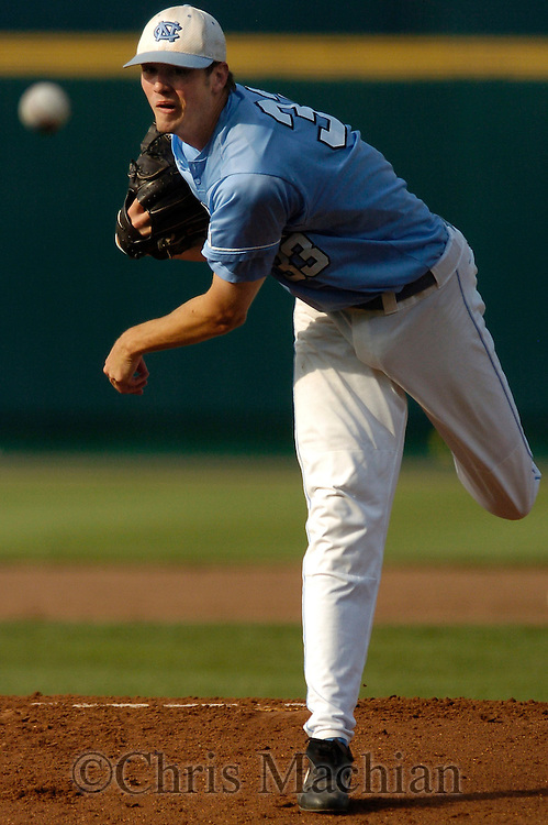 06/16/2006 University of North Carolina starting pitcher Andrew Miller during, game 2 of the College World Series in Omaha Nebraska Friday evening..(photo by  /Prairie Pixel Group)