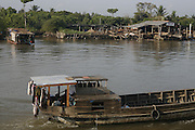 A bank of the Mekong River, Vietnam..March 18th 2007.