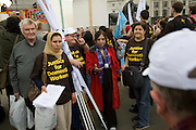 May Day march and rally at Trafalgar Square, May 1st, 2010 Justice for Domestic workers campaign