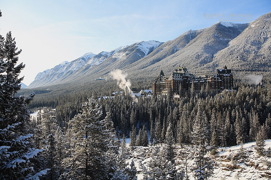 The Fairmont Banff Springs Hotel, a National Historic Site, in Banff, Alberta, Canada