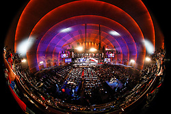 A General view of the hall from an elevated position during the first round of the NFL Draft on April 26th 2012 at Radio City Music Hall in New York, New York. This image was taken with a fisheye. (AP Photo/Brian Garfinkel)