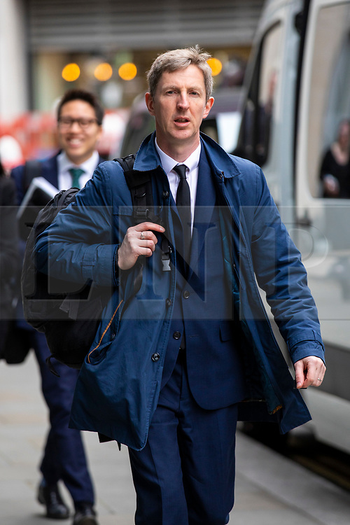© Licensed to London News Pictures. 23/04/2018. London, UK. Declan Wilson, Project Manager at the BBC, arrives at the Rolls Building of the High Court in London where Sir Cliff Richard is claiming damages against the BBC for loss of earnings. The 77-year-old singer is suing the corporation after his home in Sunningdale, Berkshire was raided following allegations of sexual assault made to Metropolitan Police. Photo credit: Rob Pinney/LNP
