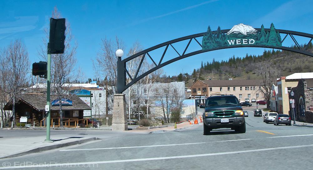entrance to Weed. California at the base of Mt Shasta along I-5