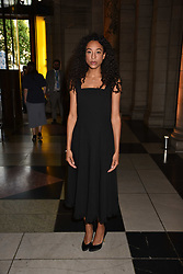 Corinne Bailey Rae at the Balenciaga Shaping Fashion VIP Preview, The V&A Museum, London England. 24 May 2017.<br /> Photo by Dominic O'Neill/SilverHub 0203 174 1069 sales@silverhubmedia.com