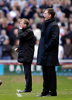 Photo: Jed Wee.<br /> Middlesbrough v Newcastle United. The Barclays Premiership. 09/04/2006.<br /> <br /> Middlesbrough manager Steve McClaren (L) tries to figure out his team's poor performance.
