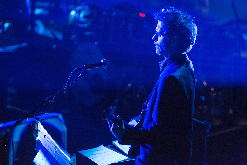 Planetarium, a series of songs composed by Bryce Dessner, Sufjian Stevens, and Nico Muhly at the Brooklyn Academy of Music (BAM). Bryce Dessner on guitar.