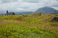 Budir, a small village in Western Iceland, is the home of popular country inn and restaurant Hotel Budir and this very old small church and accompanying graveyard.