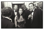 Ed Victor, Isobel Goldsmith, Ed Victor party. 1989. Film. 89578