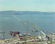 ackroyd-C02116-2 Port of Astoria and new bridge. April 19, 1966