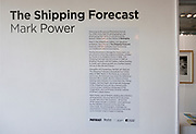 PhotoEast photography exhibition festival, Ipswich, Suffolk, England, UK 2018 display of The Shipping Forecast by Mark Power