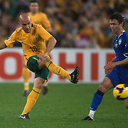 Marco Bresciano in action during the 2010 Fifa World Cup Asian Qualifying match between Australia and Uzbekistan at Stadium Australia in Sydney, Australia on April 01, 2009. Australia won the match 2-0.  Photo Tim Clayton