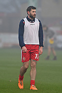 portrait Stevenage forward Danny Newton(11) during the FA Cup match between Stevenage and Swansea City at the Lamex Stadium, Stevenage, England on 9 January 2021.