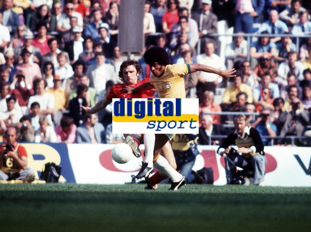 JAIRZINHO <br />BRAZIL WORLD CUP 1974 <br />BRAZIL V POLAND 3RD PLACE PLAYOFF (1-0) 06/07/1974<br />PHOTO ROGER PARKER FOTOSPORTS INTERNATIONAL