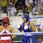 2. WOMEN'S WORLD BOXING CHAMPIONSHIPS.<br /> Swede's Nilsson Maria (R) with S.Oglou Maria(L) during their Dilek Sabanci Sport Hall Antalya/Turkey<br /> Photo by Aykut AKICI/TurkSporFoto