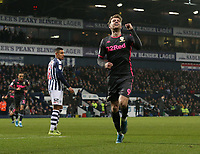 Leeds United's Patrick Bamford celebrates scoring his side's equalising goal to make the score 1-1<br /> <br /> Photographer Stephen White/CameraSport<br /> <br /> The EFL Sky Bet Championship - West Bromwich Albion v Leeds United - Wednesday 1st January 2020 - The Hawthorns - West Bromwich <br /> <br /> World Copyright © 2020 CameraSport. All rights reserved. 43 Linden Ave. Countesthorpe. Leicester. England. LE8 5PG - Tel: +44 (0) 116 277 4147 - admin@camerasport.com - www.camerasport.com