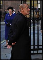 NOV 01 2012-THE QUEEN AND THE DUKE OF EDINBURGH  A UNVEIL THE DIAMOND JUBILEE WINDOW