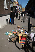 Rubbish dumped on the street on Brick Lane in London, England, United Kingdom.