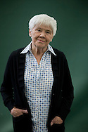 Eminent Australian psychologist Dorothy Rowe, pictured at the Edinburgh International Book Festival where she talked about her work on lying and telling lies. The three-week event is the world's biggest literary festival and is held during the annual Edinburgh Festival. The 2011 event featured talks and presentations by more than 500 authors from around the world..